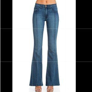 O2 Denim flare jeans